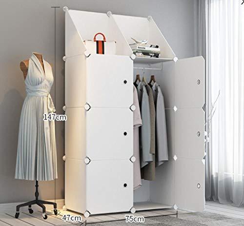 Yqtoy Draagbare kledingkast voor het ophangen van kleding, kast, ruimtebesparend