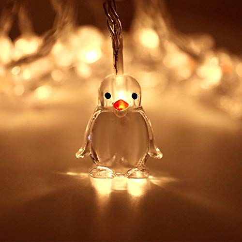 SFRMXS Upgrade Penguin String Lights, 10 LED 1.65M Penguin Animal Shape String Lamp Atmosphere Decoration for Party, Christmas, Halloween