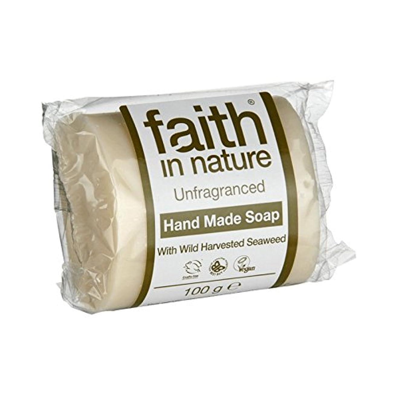 飛ぶ電気技師肌Faith in Nature Unfragranced Seaweed Soap 100g (Pack of 2) - 自然無香料海藻石鹸100グラムの信仰 (x2) [並行輸入品]