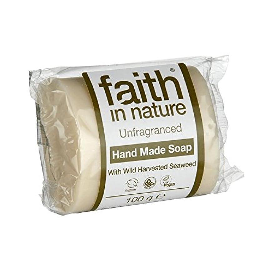 ペイン想像するつぶやきFaith in Nature Unfragranced Seaweed Soap 100g (Pack of 2) - 自然無香料海藻石鹸100グラムの信仰 (x2) [並行輸入品]