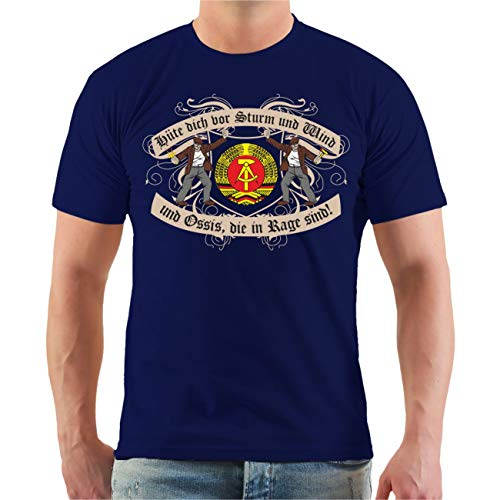Männer und Herren T-Shirt Hüte Dich DDR Größe S - 8XL