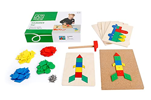 Toys for Life | Hammer Tic | Lehrmaterialien Technologie & Technik | Motorische Fähigkeiten | Ab 36 Monate | Bis 72 Monate, farbskala