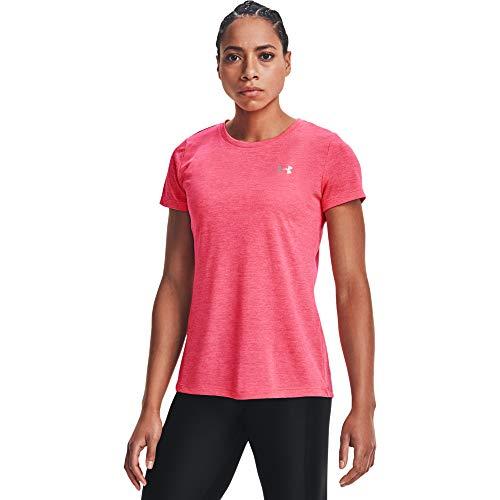 Under Armour Women's Tech Twist T-Shirt , Cerise (653)/Metallic Silver , Medium