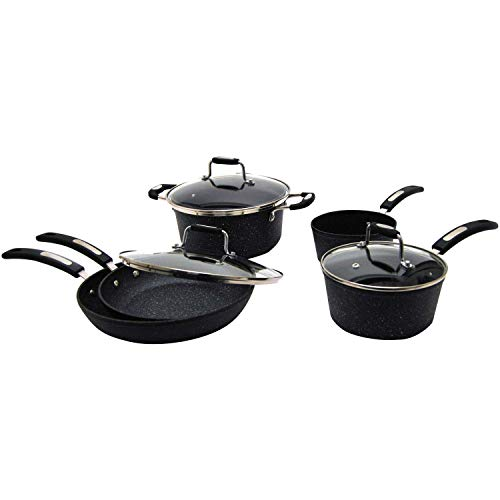 STARFRIT The Rock(tm) By Starfrit(r) 030930-001-0000 The Rock(tm) By Starfrit(r) 10-Piece Cookware Set With Bakelite(r)