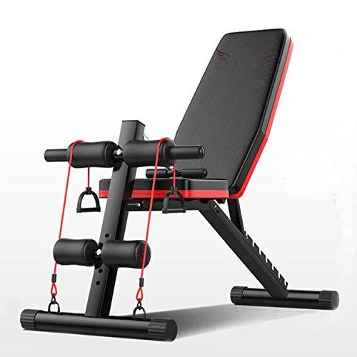 Acobonline Banco de Pesas Ajustable para Fitness,Banco de Musculación Multifunción para Entrenamiento de Cuerpo Entero, Respaldo abatible, diseño Compacto, Antideslizante. (Modelo A).