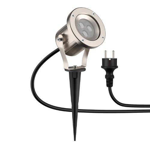 parlat LED Gartenstrahler mit Erdspieß für außen, IP55, 5W, 130lm, warm-weiß