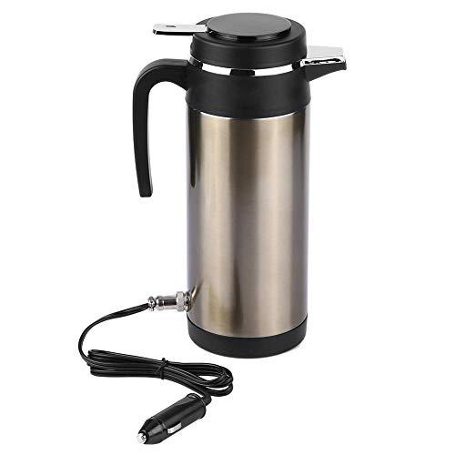 KIMISS 1200ML 12V / 24V Bollitore per auto In acciaio inox elettrico In-car Kettle Travel Bere tazza di viaggio Tazza da caffè Bottiglia di acqua(12V)