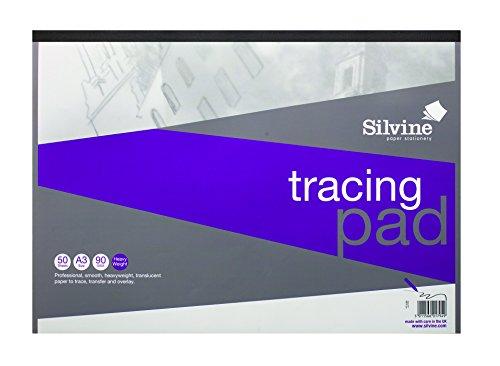 Sivine - Bloc de dibujo profesional con 50 hojas tamaño A3 de papel pesado (90 g/m²) y de calidad A3