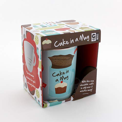 Ginger Fox Cake In A Mug Novelty Gift - Bake A Cake In Just 3 Minutes - Dishwasher & Microwave Safe