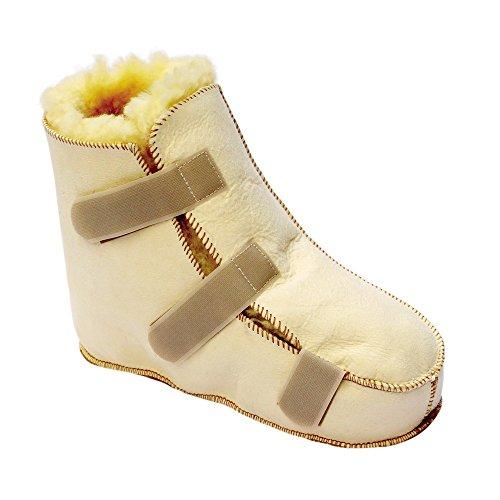 Bota antiescaras Lambskin | Producto Premium | Para pie derecho | Fabricado con piel de merino australiano | Máxima suavidad | talla XL