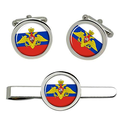 Giftshop UK Ruso Fuerzas Armadas Gemelos y Corbata Clip Set