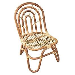Bambees Collection Chaise en rotin authentique faite à la main pour chambre d'enfant, salon ou chambre d'enfant, banc et…