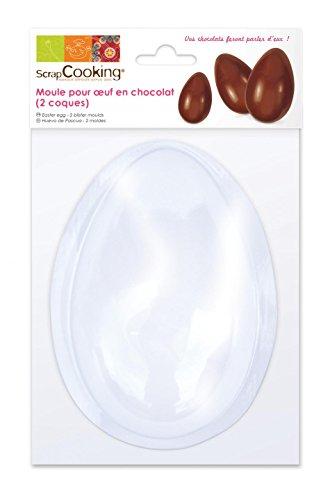 ScrapCooking 9470- Stampo per Uovo di Cioccolato in PVC, Bianco, 13x 8,5cm
