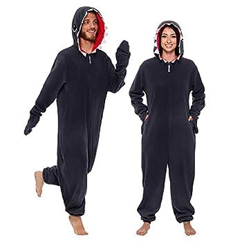 Silver Lilly Slim Shark Costume - Adult One Piece Cosplay Animal Pajamas  Grey Small