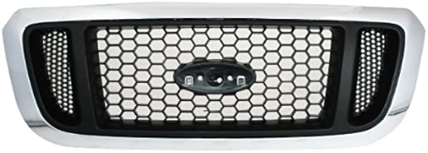 CarPartsDepot, Front New Plastic Replacement Grille Grill Argent Mesh Type Assembly, 400-18144 FO1200453?4L5Z8200EAA?