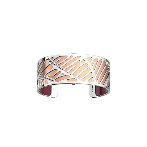 Les Georgettes - Bundle - Armreif Silber 25mm Zebrures inkl. Ledereinsatz Lachs schillernd/Bordeaux