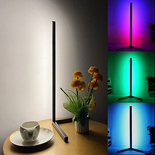 TACAHE Compact Corner Lamp - RGB Color and 3 Level White...