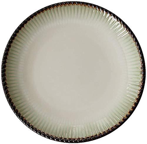 Shengluu Platos Llanos Platos Melamina Ronda 8 Pulgadas Rosca de la Placa del Partido de Cena del Filete Ensalada Que sirvió Verde 2020