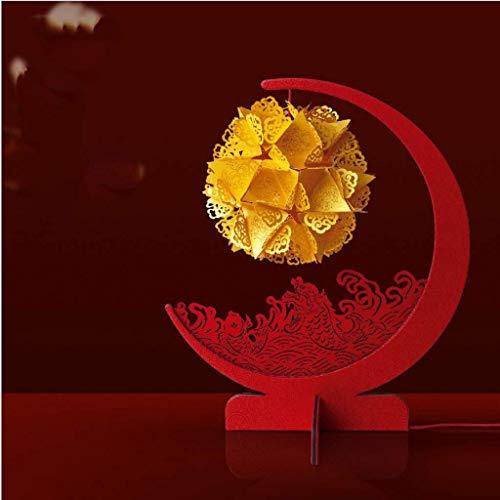 DGHJK Living Lámpara de Escritorio/Lámparas de Escritorio Lámpara de Tallado de Papel Fortune Koi-Estilo Chino Lámpara de Tallado de Papel de Estilo Antiguo Juego de Materiales de Bricolaje Estilo ch