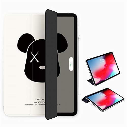 Case for Ipad Pro 12.9 Inch 2018/2020,Ultra Slim Strong Magnetic Back,Trifold Stand Protective Cover with Auto Wake/Sleep[Support Ipad Pencil Charging],E,iPad Pro12.9/2018