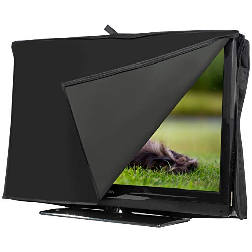 "AIYIDUO Outdoor 50""-55"" TV Set Cover, Scratch Resistant Best-Fits in Standard Mounts and Stands, Waterproof and Weatherproof Dust Resistant TV Screen Cover Protector UV Resistant Television Protector"