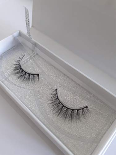 Aurora 3D Luxury Faux Mink Eyelashes   Handmade natural false lashes   12mm   Reusable   Adhesive not Included   1 Pair