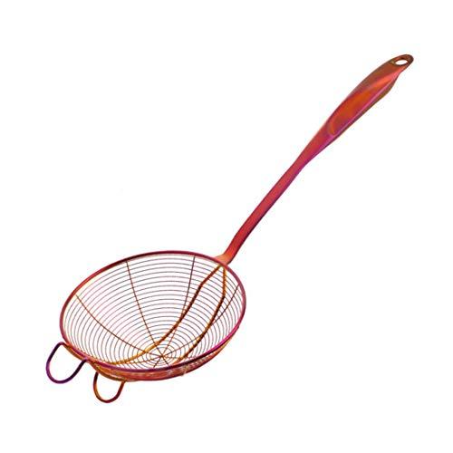 Grande Écumoire crépine de cuisine Skimmer Louche Acier inoxydable Cuillère en fil pour Aliments frits Pâtes Spaghetti Nouilles Pot chaud 18 pouces