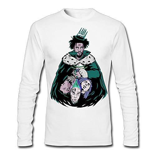 J-Cole Man Ideal Long Sleeve T-Shirt White L