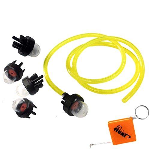HURI 5 Pompe poire d'amorçage/ Ampoule de Carburant avec Tuyau de carburant pour Tondeuse Tronçonneuse Débroussailleuse Trimmer
