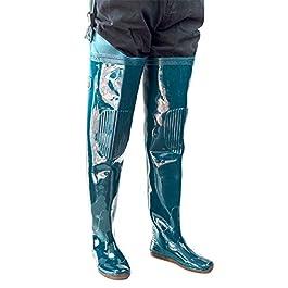 HHORD Bottes de la Hanche, de la Hanche Waders pour Hommes avec des Bottes imperméables légers Bootfoot 2-Ply Crampons…