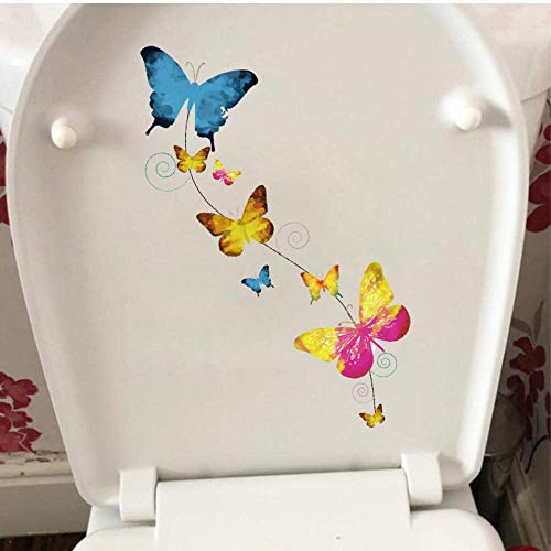 Muursticker Vlinder Ketting Badkamer Toilet Decor Mode Thuis Kamer Muursticker 11.4X25Cm
