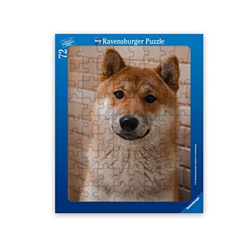 Ravensburger Fotopuzzle 24 oder 72 Teile: Fotogeschenke zum Selbstgestalten - Rahmenpuzzle mit eigenem Bild - personalisierte Geschenke für Kinder ab 3 Jahren (72 Teile in blauem Rahmen - Hochformat)