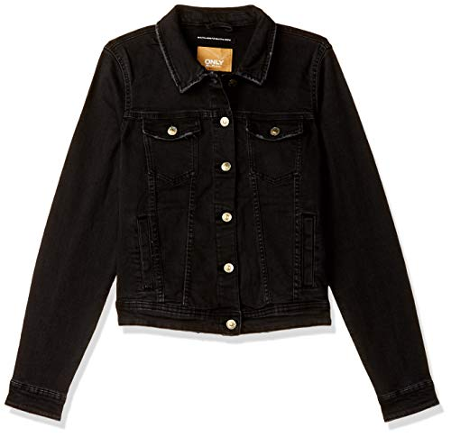 Only Onltia Reg LS Jacket BB Bex162a Chaqueta Vaquera, Negro (Black Black), X-Small (Talla del Fabricante: 34) para Mujer