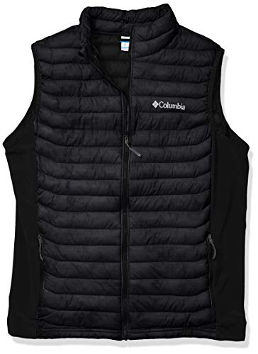Columbia Men's Powder Pass Vest, Insulated, Water Resistant, Black, Large