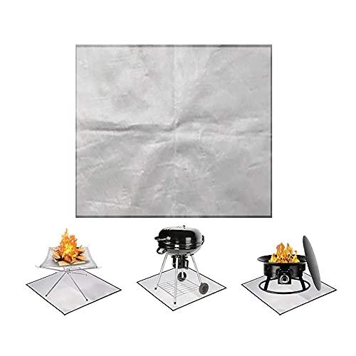 BSB Alfombra para fogones, Aislante térmico para Barbacoa de Picnic, Protector de Cubierta a Prueba de Fuego, Alfombra para Parrilla Resistente al Fuego para Barbacoa de Cubierta
