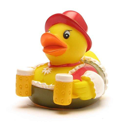 Badeente im Dirndel I Quietscheente I Duckshop I L: 8 cm