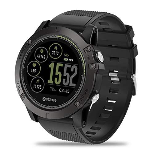 YK WATCH Fitness Tracker Smartwatch IP 67 Impermeabile Orologio Intelligente Braccialetto Fitness con Pedometro Sonno Monitoraggio per Android Phone,Black