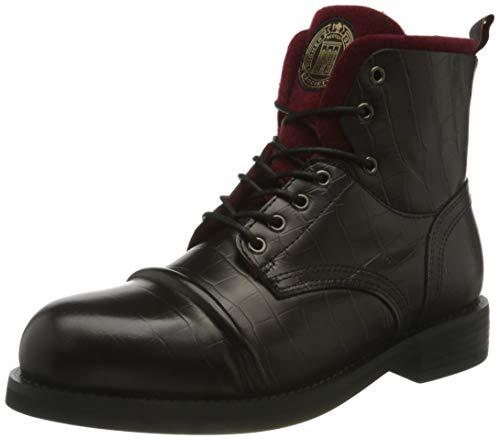 SCOTCH & SODA FOOTWEAR (SCPGH) Herren COLTAN Mode-Stiefel, Bordo Croc Optic, 46 EU