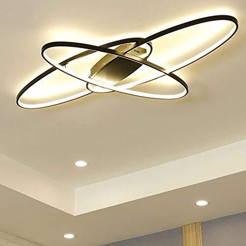 69W Wohnzimmerlampe Dimmbar LED Deckenleuchte Esszimmer Decke Pendelleuchte mit Fernbedienung Esstischlampe Modern Oval Designer Schlafzimmerlampe Landhaus Badezimmer Flur Wohnungs Deko Decken Lampen