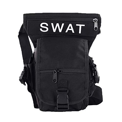 XQxiqi689sy Modische Hüfttasche für Outdoor-Sport, Reiten, Beintasche für Wandern, Oberschenkel Einheitsgröße Schwarz