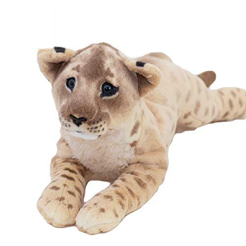 Plüsch-Spielzeug Kissen Spielzeug Stofftiere für Babys Dekoartikel Wohnzimmer Kind Schlafzimmer Dekor Mädchen Junge Tiger Leopard Löwe 60cm