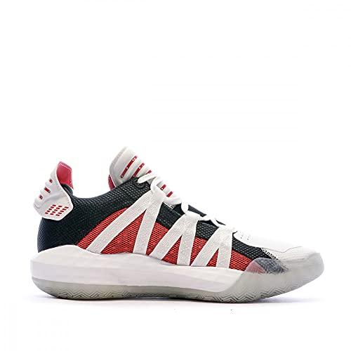 adidas Dame 6, Zapatillas Unisex Adulto, FTWR White/Scarlet/Core Black, 44 EU