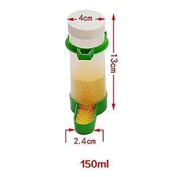 Dewin Abrevoir pour Oiseau - mangeoire/Abreuvoir pour Oiseaux en Plastique Cage Automatique pour nourrisseur d'eau de semence pour Perroquet Perruche (150ML)