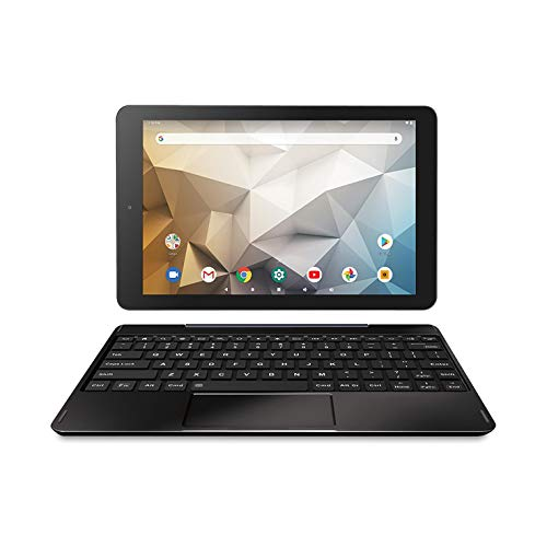 RCA Tablet Quad-Core 2GB RAM 32GB Storage IPS HD Touchscreen WiFi Bluetooth with Detachable Keyboard Android 9 Pie (Black)