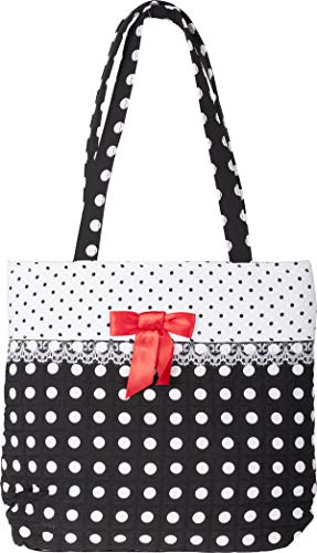 Küstenluder Damen Tasche Veza Polka Dot Punkte Bow Shopper Rot