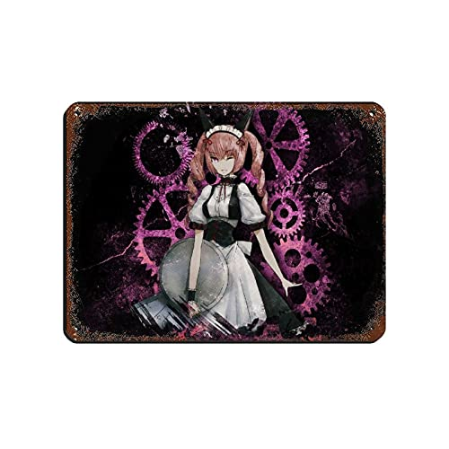 Anime Steins Gate Faris Nyannyan 1 Retro Poster Metal Tin Sign Chic Art Retro Iron Painting Bar People Cave Cafe Family Garage Poster Wall Decoration 12×16inch(30×40cm)
