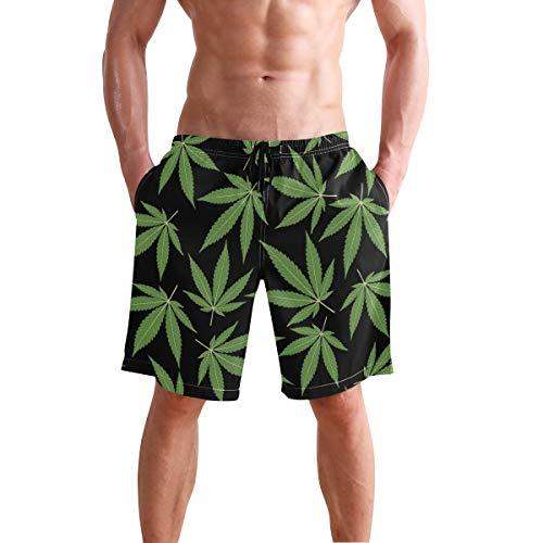 LORONA Pantalones cortos con patrón de hojas de cannabis de secado rápido Multicolor multicolor XL