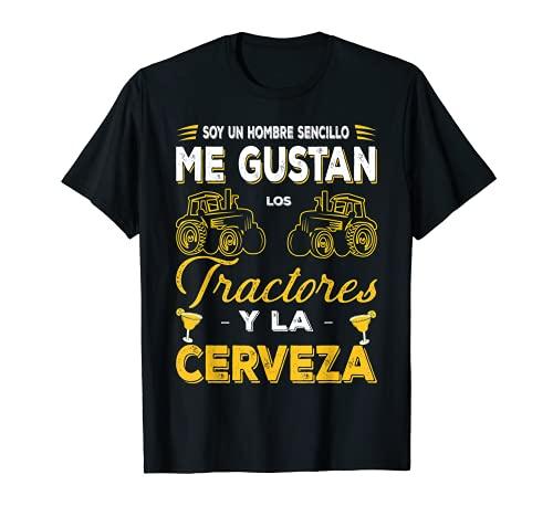 Hombre Hombre Sencillo Tractor Y Cerveza Farmer Granjero Regalo Camiseta