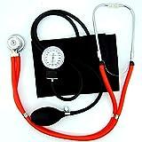 Valuemed esfigmomanómetro + rojo tubo Sprague Rappaport Estetoscopio Bundle profesional de la medicina–Tensiómetro aneroide Pro CE NHS unidad + estetoscopio en caja
