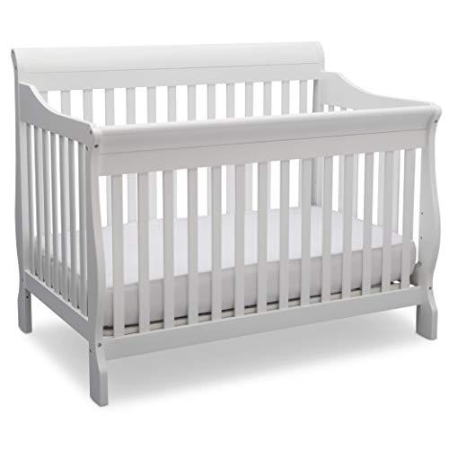 Delta Children Canton 4-in-1 Convertible Baby Crib, Bianca White